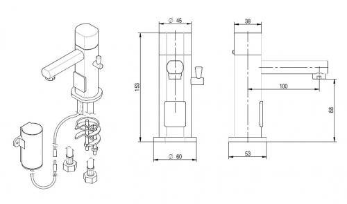 Sensorarmatur warm/ kalt 6V